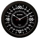Trintec 24 horas reloj de pared con hora militar Zulu 35,56 cm - ZT24 negro