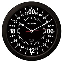Trintec 24 Hour Military Time SWL Zulu Time 24Hr Wall Clock 10\