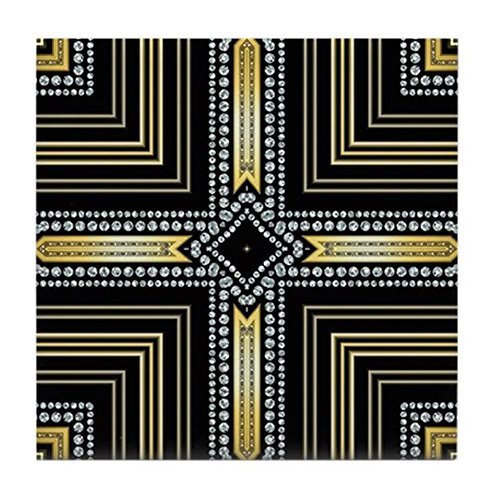 Cross Tile Coaster (CafePress - Art Deco Cross - Tile Coaster, Drink Coaster, Small Trivet)