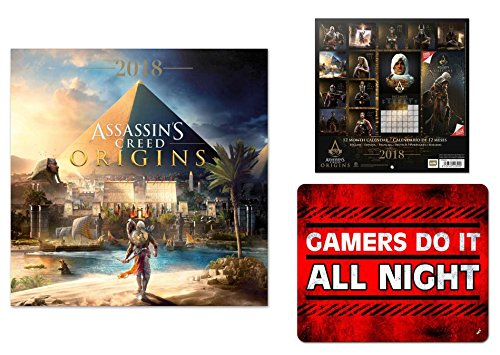 Price comparison product image Set: Assassin's Creed, Origins, Bayek Official Calendar 2018 (12x12 inches) And 1x Mouse Pad (9x7 inches)