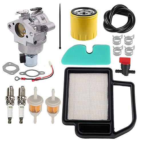Coolwind SV590 Carburetor + Air Filter Fuel Filter Oil Filter Tune Up Kit for Kohler Courage SV Series SV530 SV540 SV600 SV591 SV601 SV610 SV620 15HP 17HP 18HP Rep 20 853 33-S 20 853 14-S 20 853 01-S