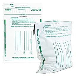 Quality Park - Quality Park - Poly Night Deposit Bags w/Tear-Off Receipt, 10 x 13, Opaque, 100 Bags/Pack