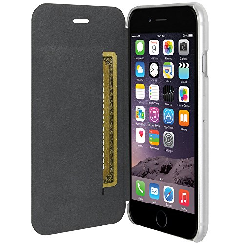 Amzer Schutzhülle für iPhone6 (Flip-Style), Schwarz