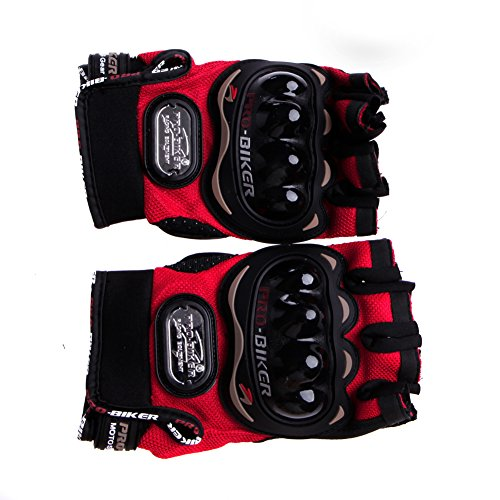 Kocome Motocross Racing Pro-Biker Cycling Motorcycle Protective Half Finger Gloves (Red, M)