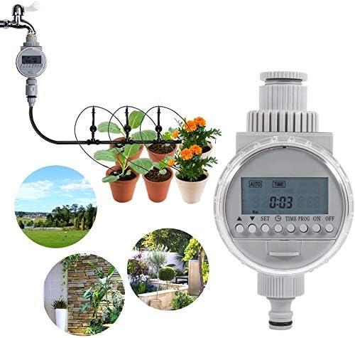 Schlauch-Hahn-Timer, solarbetriebene intelligente automatische Bewässerung Timer Bewässerungssystem-Controller mit LCD-Digital-Bildschirm für Hausgarten-Gewächshaus Pflanze Gras