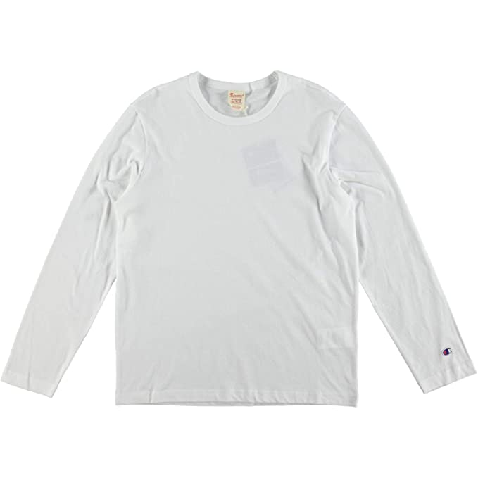3a78f51e Champion Reverse Weave Long Sleeve Crewneck T-Shirt White - XX-Large:  Amazon.co.uk: Clothing