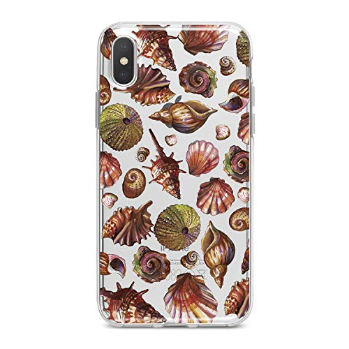 Lex Altern TPU Case for iPhone Apple Xs Max Xr 10 X 8+ 7 6s 6 SE 5s 5 Cover Slim fit Phone Pattern Womenfish Shore Flexible Print Lightweight Lady Girl Design Seashells Gift Smooth Soft Clear Cute]()
