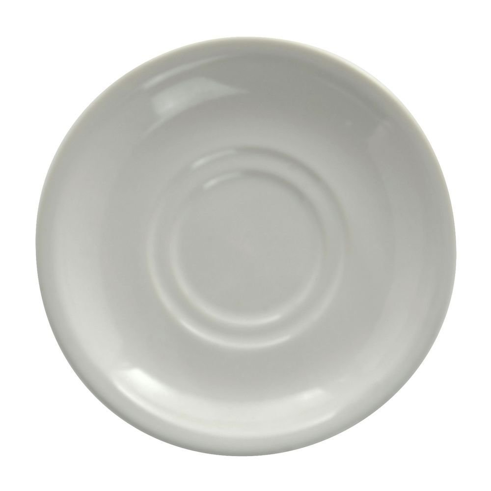 HUBERT White Saucer With Rolled-Edge Bright White - 6'' Dia 36 Per Case