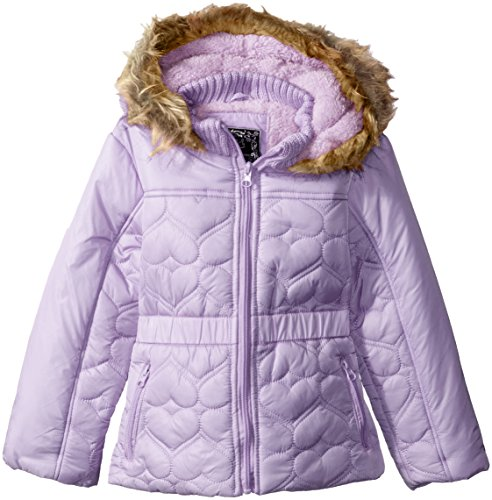 Quilt Faux Fur Hood Coat - 5