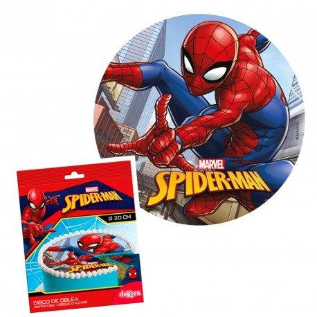 Disco matzá Spiderman 20 cm - cumpleaños almuerzo decoración ...