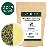 2017 Harvest, Arya Pearl Darjeeling First Flush White Tea, 100% Pure Unblended White Tea Loose Leaf Sourced Direct from the Arya Tea Estate, Mellow, Rich & Limited Edition (25 Cups), 1.76oz