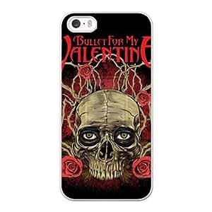 Bullet For My Valentine N6D8TD4I Caso funda iPhone 5 5s Caso funda del teléfono celular blanco