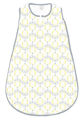 SwaddleDesigns Cotton Sleeping Zipper Yellow