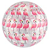 "FineLife Flamingo Beach Ball Set - Includes Two 10"" Beach Balls with Trendy Flamingos Design - Great Pool, Water Fun & Outdoor Play Toy!"