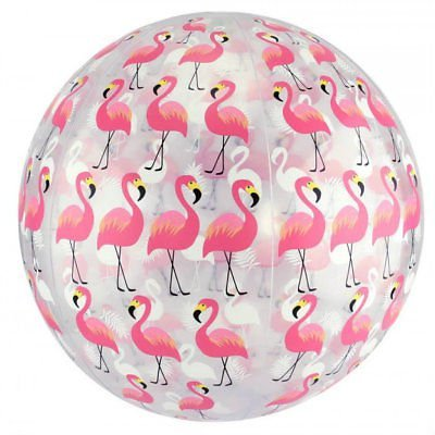 """FineLife Flamingo Beach Ball Set - Includes Two 10"""" Beach Balls with Trendy Flamingos Design - Great Pool, Water Fun & Outdoor Play Toy!"""
