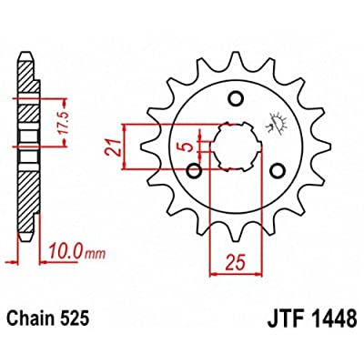 JT Sprockets JTF1448.14 14T Steel Front Sprocket: Automotive