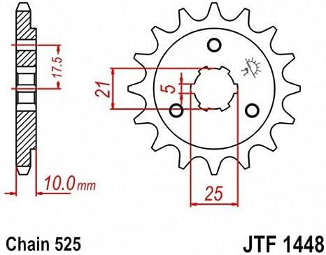 JT Sprockets JTF1448.15 15T Steel Front Sprocket