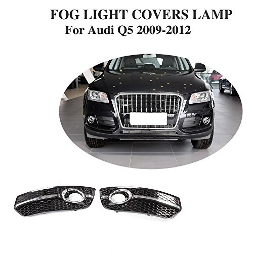 JCSPORTLINE Front ABS Side Fog Light Lamp Grill Covers for Audi Q5 2009-2012 2PCS (Audi Q5 Grill)