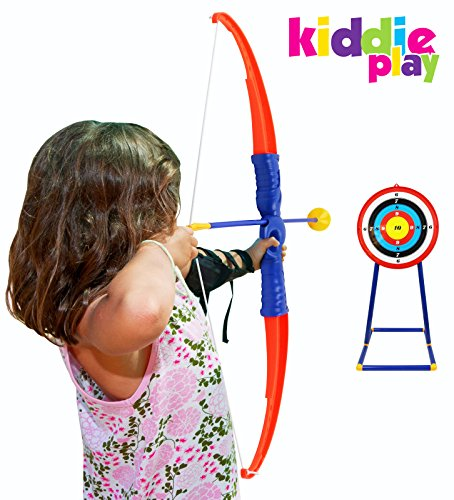 Kiddie Play Toy Archery Set for Kids with Target Bow and Arrow Kids Toys Age 5, 6, 7, 8, 9 Years Old Boys and Girls by Kiddie Play (Image #3)