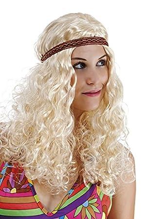 Ptit Clown P Tit Payaso – 68650 – Peluca Hippie Mujer – Frisée con Diadema