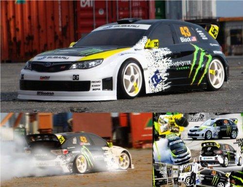 Rc Racing Car Body Monster Energy Ken Block Drift Adhesive