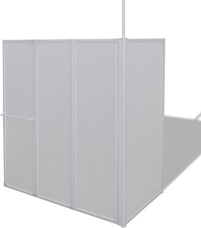 Tidyard Mampara de Ducha con 4 Paneles Plegables y toallero: Amazon.es: Hogar