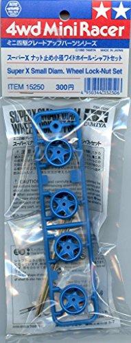 Tamiya 4WD Mini Racer Super X Small Diam. Wheel Lock-Nut Set Plastic - Locknut Plastic