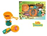 kids camp stove - Mini Camp Gas-stove and cooking camping expansion set from Little Treasures is sleek and cool, sure to catch the eye of any child.