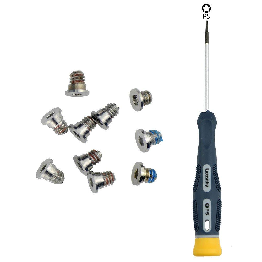 Silber Pentalobe Unteren Schrauben und Pentalobe Schraubendreher f/ür MacBook Retina 15-Zoll A1707