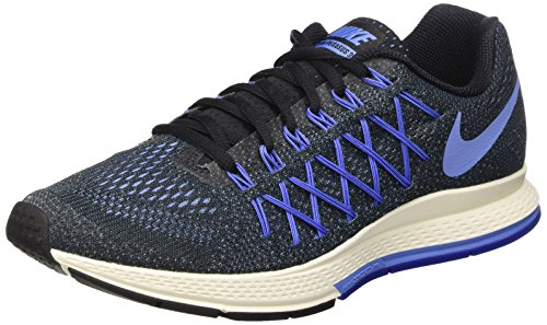 Nike Air Zoom Pegasus 32 - Zapatillas de running Mujer Negro (Black / Chalk Blue-Racer Blue)