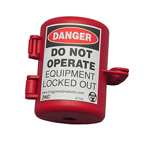ZING 7105 RecycLockout Lockout Tagout, Small Plug Lockout, Recycled Plastic from Zing Green Products