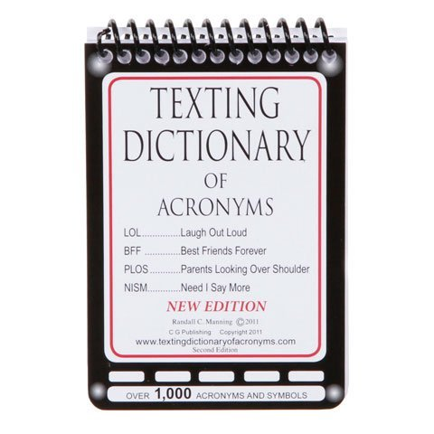 Texting Dictionary Of Acronyms   Pocket Size
