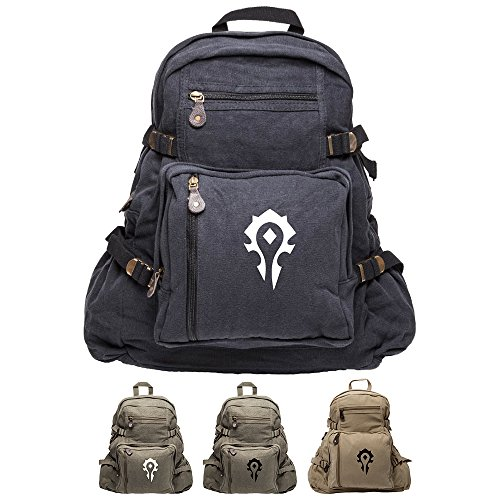 World of Warcraft Horde Army Army Sport Heavyweight Canvas Backpack Bag
