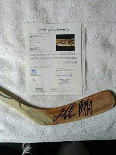 Mario Lemieux And Paul Coffey Autographed Signed Hockey Stick JSA Authentication Loa. ()