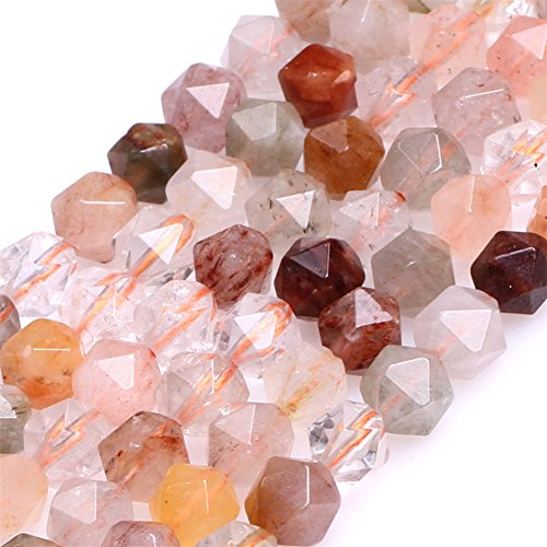 Multicolored Hair Rutilated Quartz Beads for Jewelry Making Natural Gemstone Semi Precious AAA Grade 6mm Faceted 15