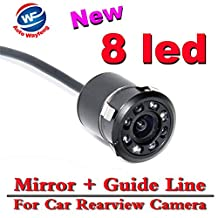 Auto Wayfeng® Rear View Camera - Super Mini 18.5MM Car Camera Rear View Parking Back Camera Reversing Camera HD CCD Waterproof with 8LED Night Vision