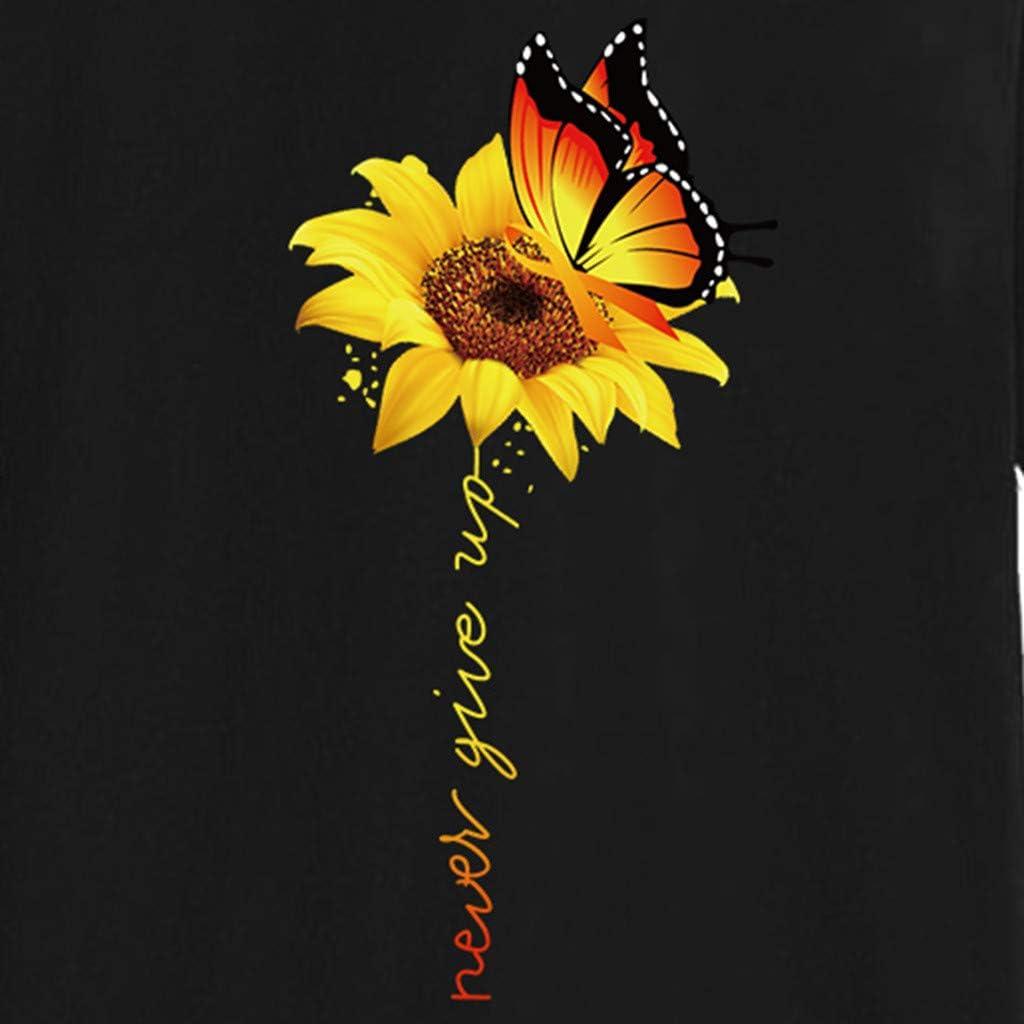T Shirt Maglietta Manica Corta Donna Elegante Estive Tee Girasole Stampa Maglia Taglie Forti Camicetta Tumblr Magliette Ragazza Corta Top Vintage Tumblr