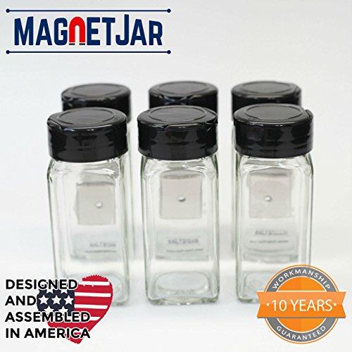 MagnetJar - Magnetic Spice Jar - Powerful Magnet / Sifter...