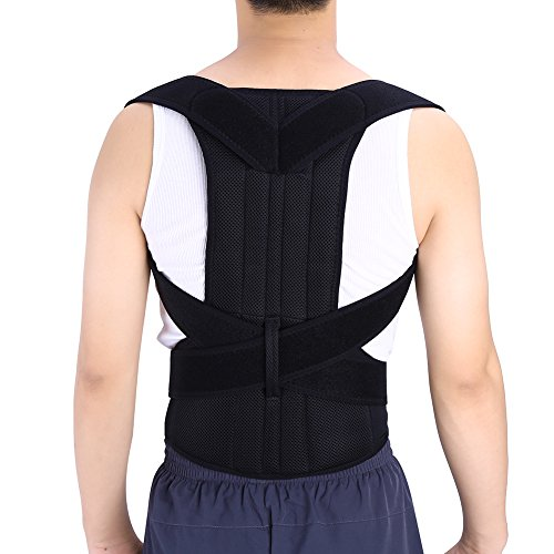 Adjustable Universal Vest Elastic Clavicle Posture Corrector Back Lumbar Support Scoliosis Brace Round Shoulder Band Belt (XXL Size)