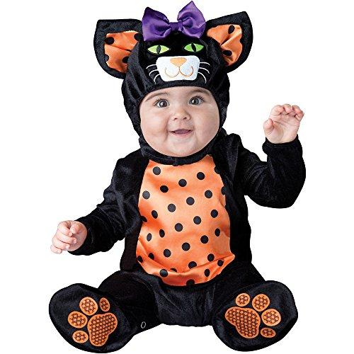 (InCharacter Costumes Baby Mini Meow Cat Costume, Black/Orange,)