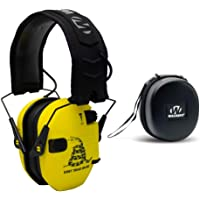 Walkers Razor Slim Electronic Shooting Hearing Protection Muff (Sound Amplification and Suppression) with Protective Case