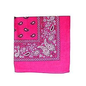 3 Pack Mechaly Dog Bandana Neck Scarf Paisley 100% Polyester Double Sided Bandanas - Any Pets (Hot Pink)