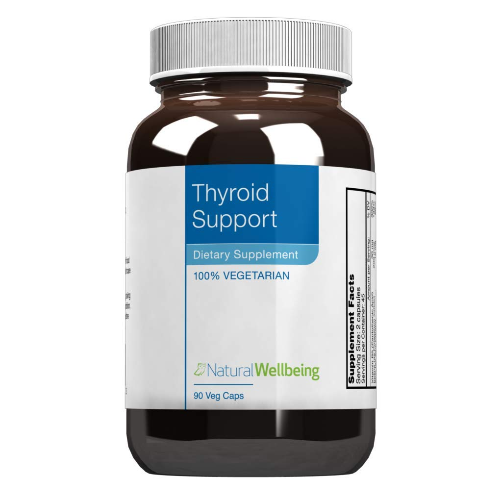 Natural Wellbeing - Thyroid Support - Nourishing and Restorative Support for Healthy Thyroid Function - 90 Vegetarian Capsules by Natural Wellbeing