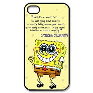 Vintage Cute SpongeBob SquarePants Apple Iphone 4S/4 Case Cover Sponge Bob Square Pants Quotes