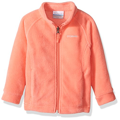 Columbia Baby Girls' Benton Springs Fleece Jacket, Hot Coral, 6-12 Months