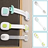 Child Safety Locks for Cabinets Refrigerator Oven Closet Pet Proofing Strap Latches for Door Washing Machine Toilet Seat (Pack of 4)