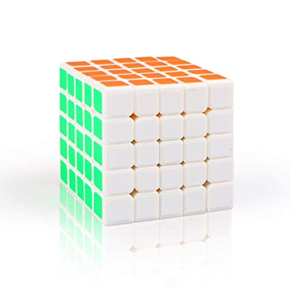 Alician 5 X 5 6.2CM Speed Magic Cube Toy for Professional Game White
