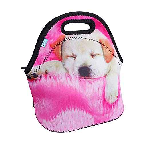 Lunch Boxes, OFEILY Lunch Tote Lunch bags with Neoprene(Middle, Sleeping dog) ()