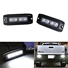 iJDMTOY (2) Flush Mount 20W High Power CREE LED Backup or Driving Pod Lights For Truck Jeep Off-Road ATV 4WD 4x4, Flood Light Beam Pattern