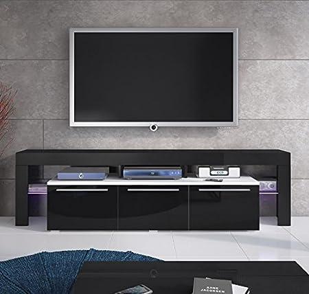 Design diseño modelo Talia-Mueble para Tv, color negro: Amazon.es: Hogar